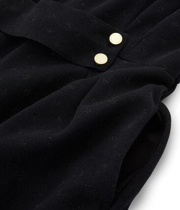 Vestido ajustado con manga larga para mujer negro Noir / negro Lurex Noir