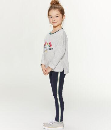 Camiseta serigrafiada para niña gris Beluga