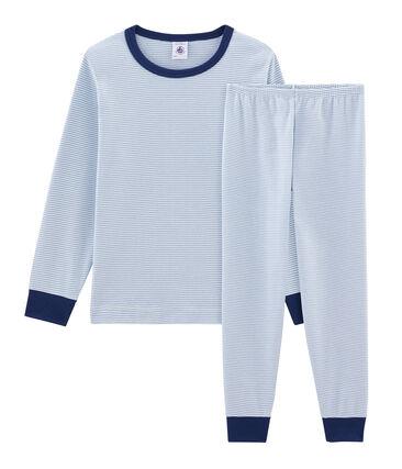 Pijama de punto para niño azul Acier / blanco Marshmallow