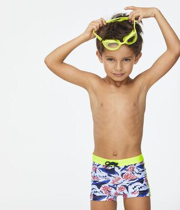 Bañador ecorresponsable niño blanco Marshmallow / blanco Multico