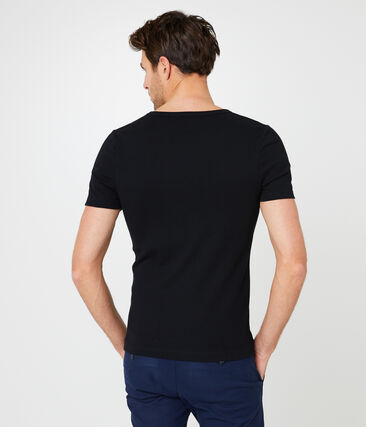 Camiseta manga corta de cuello pico para hombre