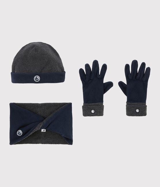 Conjunto polar para niña/niño gris Subway / azul Smoking