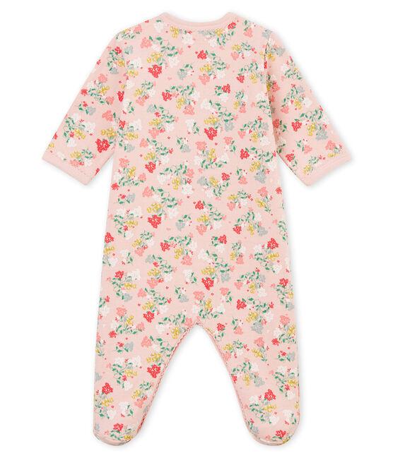 Pelele de noche para bebé niña rosa Joli / blanco Multico