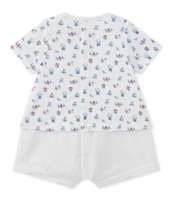 Pelele corto para bebé niño blanco Ecume / blanco Multico