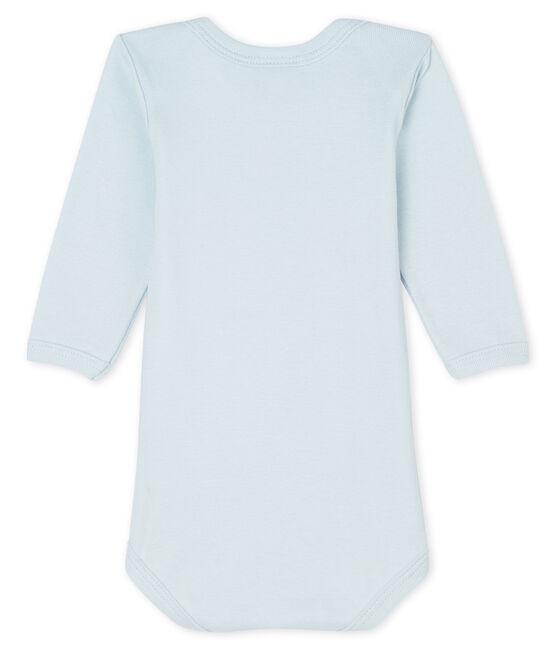 Bodi de manga larga para bebé niño-niña azul Fraicheur