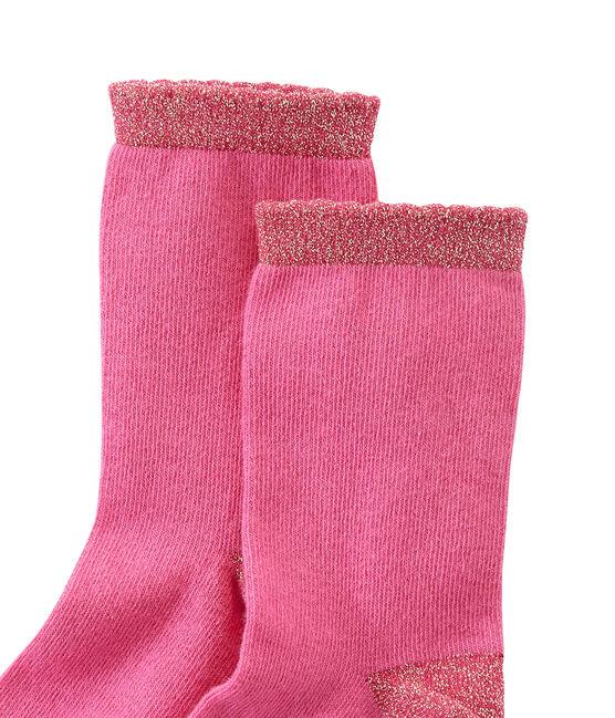 calcetines lisos para niña rosa Petunia