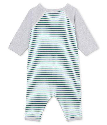 Pelele sin pies de punto para bebé niño blanco Marshmallow / blanco Multico