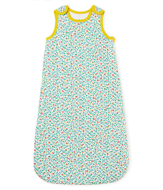 Saquito compacto de tejido túbico para bebé niña blanco Marshmallow / blanco Multico