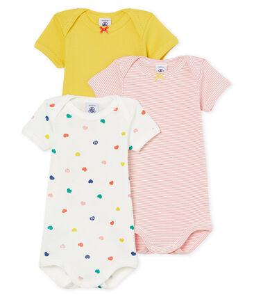 Tres bodis de manga corta para bebé niña