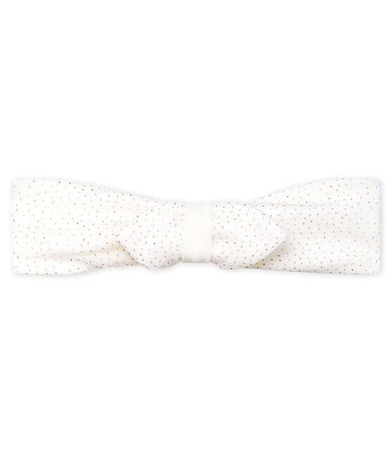 Diadema de tul para bebé niña blanco Marshmallow / rosa Copper