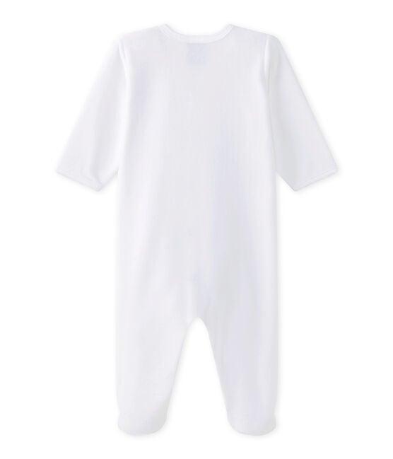 Pelele para bebé blanco Ecume