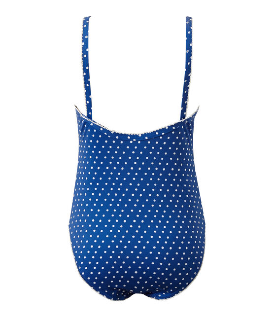 Bañador a topos azul Perse / blanco Marshmallow