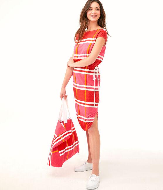 Vestido para mujer rosa Geisha / blanco Multico