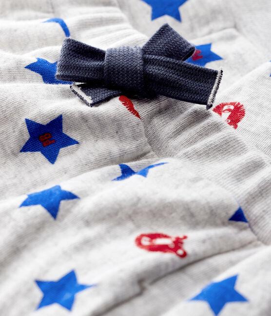 Pantalón de tejido túbico para bebé niño gris Beluga / blanco Multico