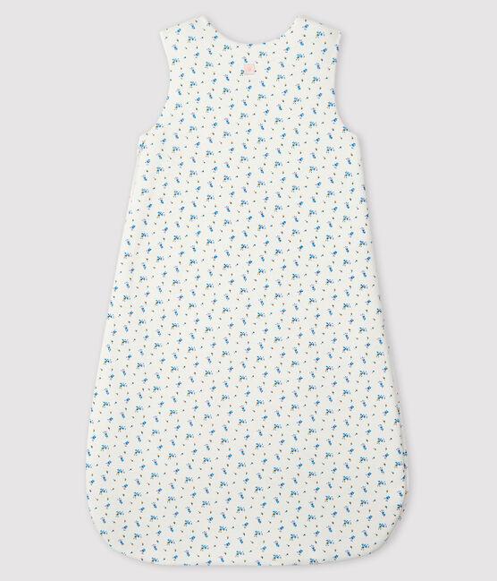Saco de punto de tejido acanalado para bebé blanco Marshmallow / blanco Multico