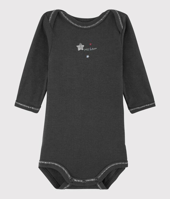 Bodi de manga larga de bebé niño gris Capecod