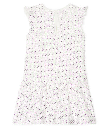 Vestido-bodi estampado para bebé niña violeta Real / blanco Marshmallow