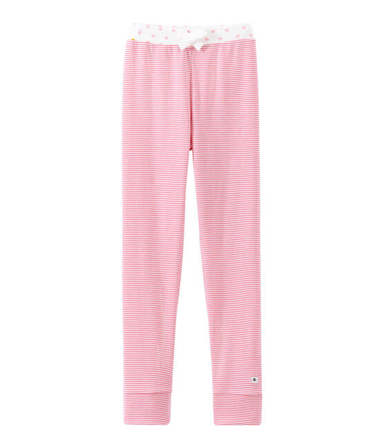 Pantalón de pijama para niña rosa Cheek / blanco Marshmallow