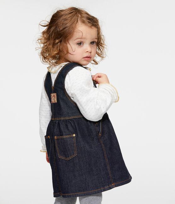Vestido vaquero tipo peto para bebé niña azul Jean