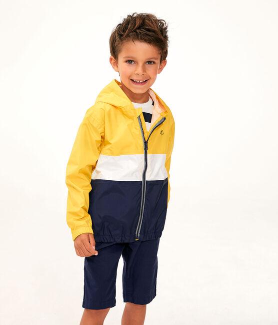 Cortavientos corto de niño amarillo Jaune / blanco Multico