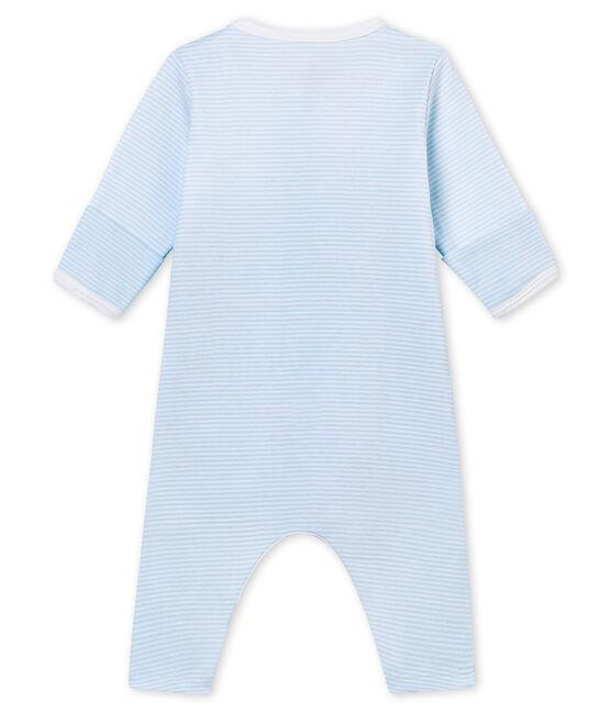 Pelele sin pies para bebé mixto con body integrado azul Fraicheur / blanco Ecume