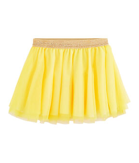 Falda de niña amarillo Eblouis