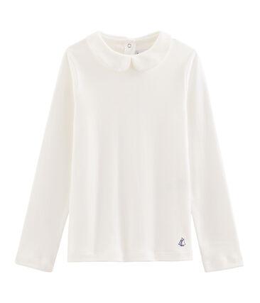 Camiseta niña con cuello babero blanco Marshmallow