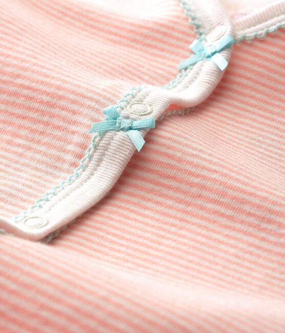 Pelele de punto para bebé niña rosa Rosako / blanco Marshmallow Cn