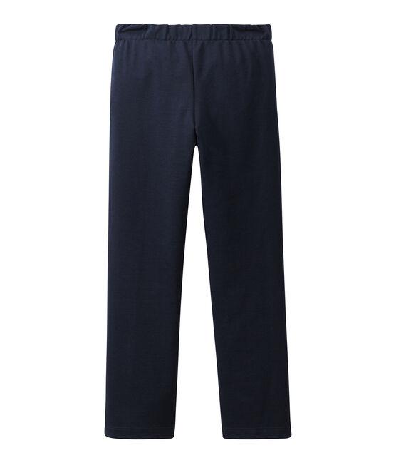Pantalón con puente para niña azul Smoking