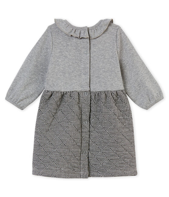Vestidobi-materiapara bebé niña gris Subway / blanco Multico