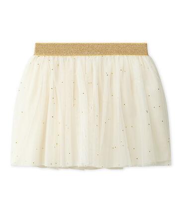 Falda de tul para niña beige Coquille / amarillo Dore