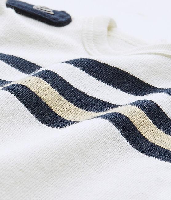 Pelele corto de bebé niño de manga corta blanco Marshmallow / blanco Multico
