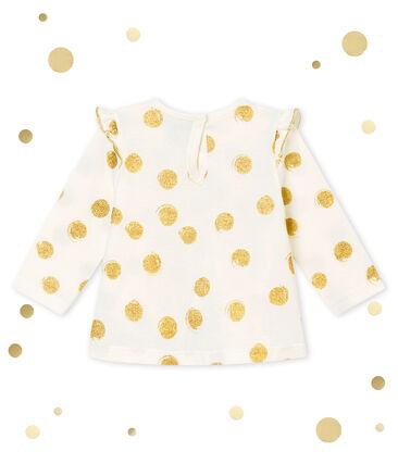 Blusa para bebé niña estampada blanco Marshmallow / amarillo Dore