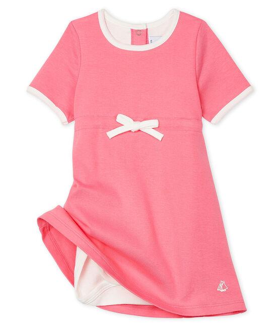 Vestido-bodi de manga corta para bebé niña rosa Cupcake