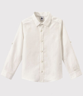Camisa Oxford de niño blanco Ecume