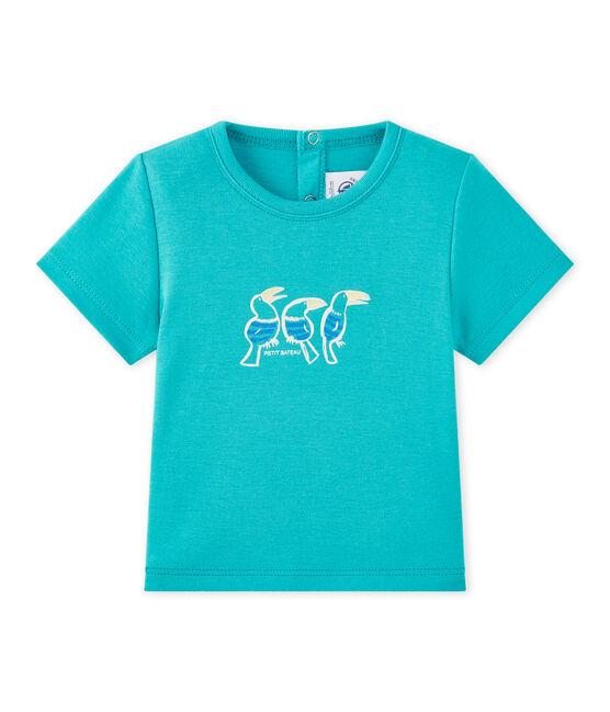 Camiseta bebé niño de manga corta verde Verger