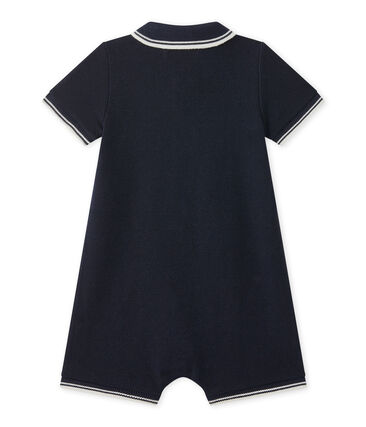 Pelele corto para bebé niño en jersey piqué
