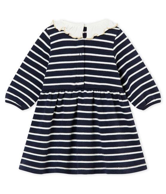 Vestido marinero para bebé niña azul Smoking / blanco Marshmallow