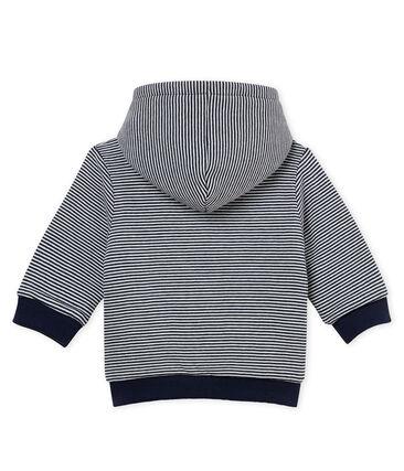 Sudadera con capucha enguatada de rayas para bebé niño
