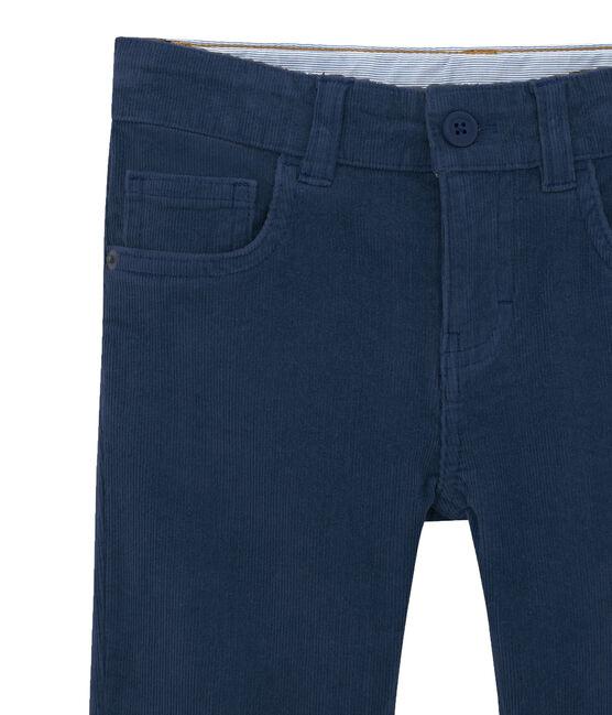 Pantalón de pana para niño azul Smoking