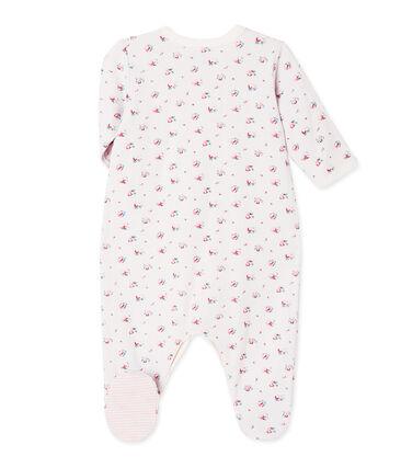 Pijama estampado en túbico para bebé niña azul Bocal / blanco Multico
