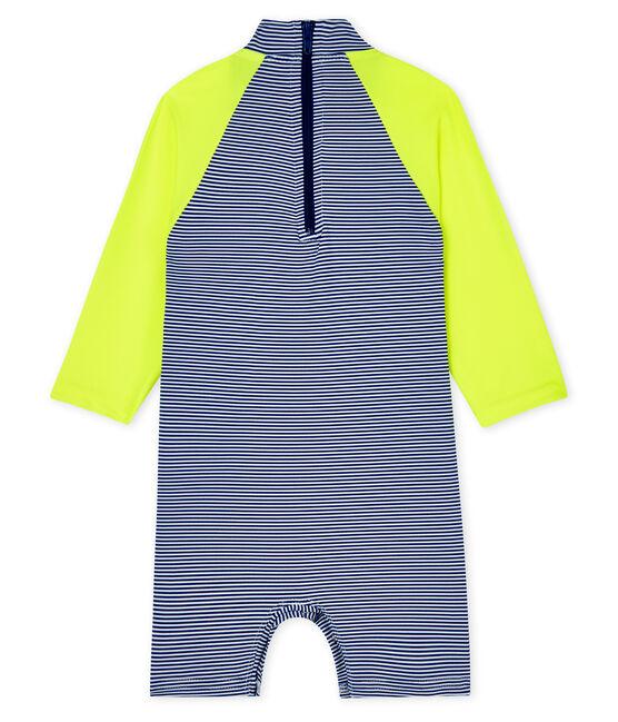 Buzo con protección solar para bebé unisex azul Surf / blanco Marshmallow