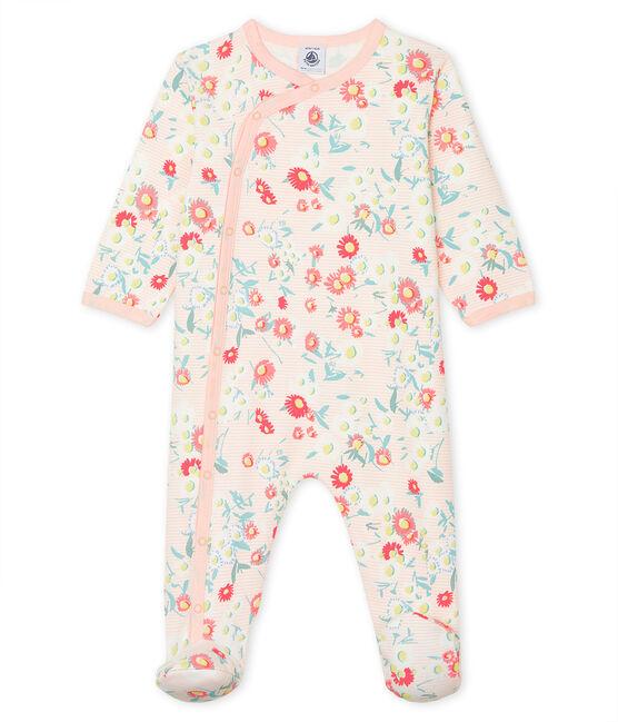 Pijama de punto para bebé de niña blanco Marshmallow / blanco Multico
