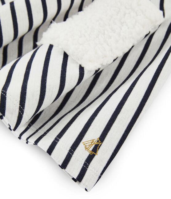 Falda de niña blanco Marshmallow / azul Smoking