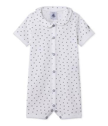 Pijama sin pies con corazones estampados para bebé niña