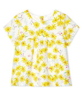 Blusa de lino para bebé niña blanco Marshmallow / blanco Multico