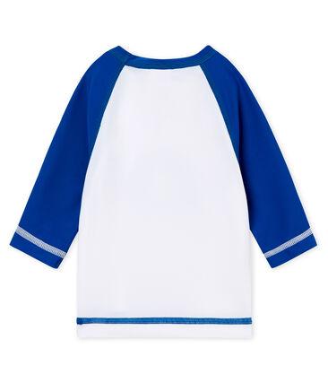 Camiseta anti-UV UPF 50+ para bebé niño blanco Marshmallow / azul Riyadh