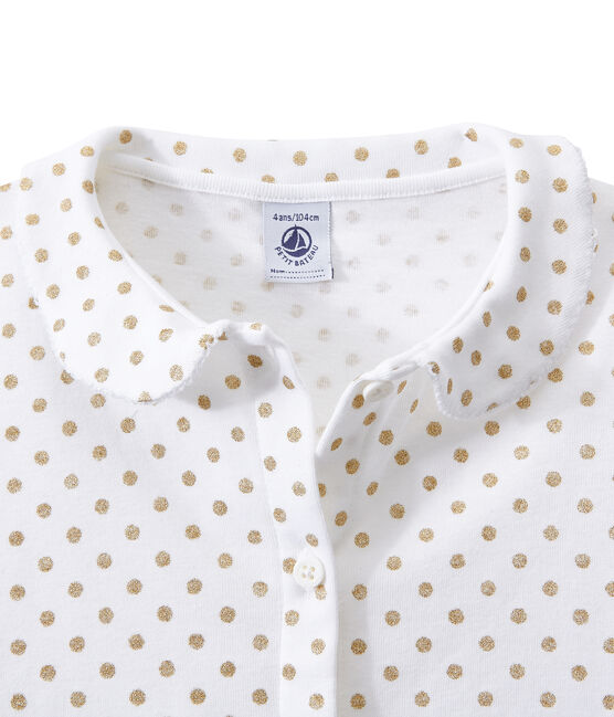 Pijama corto para niña blanco Ecume / amarillo Dore