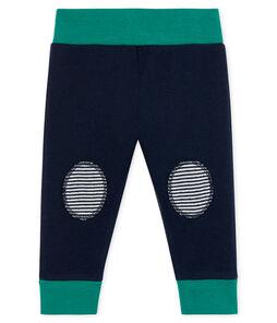 Pantalón de tela túbica para bebé azul Smoking