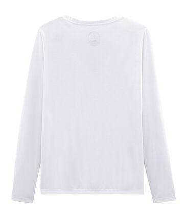Camiseta manga larga de algodón sea island para mujer
